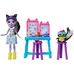 Enchantimals™ Stinkin' Cute Vanity™ With Sage Skunk™ & Caper™ Dolls