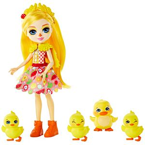 Enchantimals™ Family Toy Set, Dinah Duck™ Doll (6-inch) with Slosh™ and 4 Baby Duckling Figures