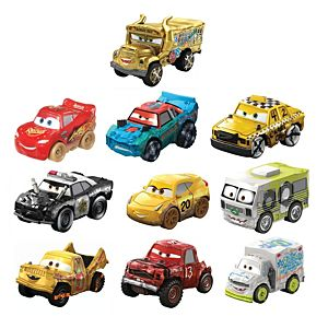 Disney and Pixar Cars Mini Racers Derby Racers Series 10-Pack, collectible compact movie vehicles