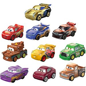 Disney/Pixar Cars Mini Racers Derby Racers Series 10-Pack, Collectible Compact Movie Vehicles