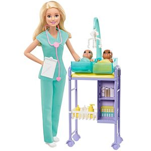 Barbie® Baby Doctor Playset with Blonde Doll, 2 Infant Dolls, Toy Pieces