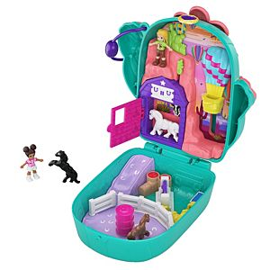 Polly Pocket™ Pocket World Cactus Cowgirl™ Ranch Compact, 2 Micro Dolls, Accessories