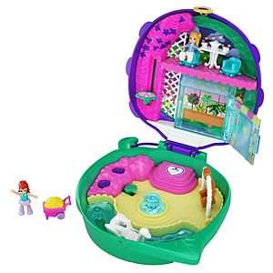 Polly Pocket™ Pocket World Lil' Ladybug Garden Compact, 2 Micro Dolls, Accessories