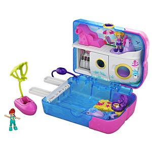 Polly Pocket™ Pocket World Sweet Sails™ Cruise Ship Compact, 2 Micro Dolls, Accessories