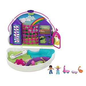 Polly Pocket™ Polly™ & Shani™ Rainbow Dream™ Wearable Purse Compact