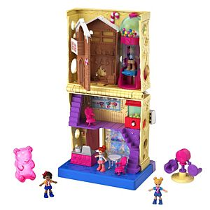 Pollyville™ Candy Store with 4 Floors, 2 Dolls and 5 Accessories