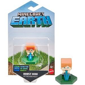 Minecraft Earth Boost Attacking Alex Figure, NFC Chip Enabled for Earth Augmented Reality Game
