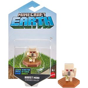 Minecraft Earth Boost Enraged Golem Figure, NFC Chip Enabled for Earth Augmented Reality Game