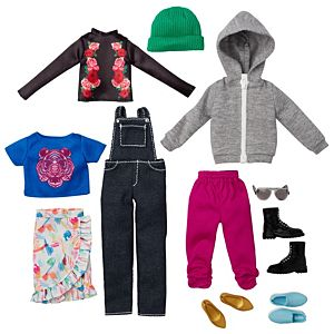 Creatable World™ Everyday Style Pack, 11-Piece Clothes and Accessory Fashion Set