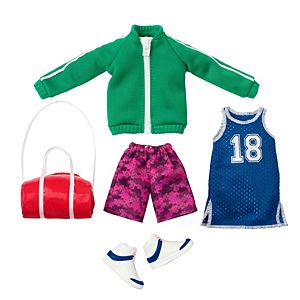 Creatable World™ Active-Wear Style Pack, 5-Piece Fashion Set with Athletic Clothes and Accessories