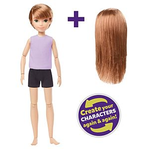 Creatable World™ Character Starter Pack, Copper-Hair Doll with Green Eyes, Includes Wig