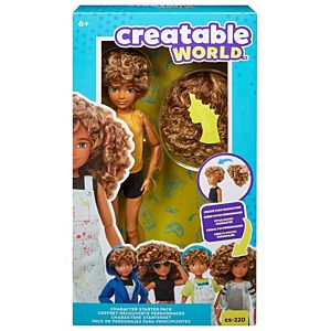 Creatable World™ Character Starter Pack, Curly Blonde Doll with Green Eyes, Includes Wig