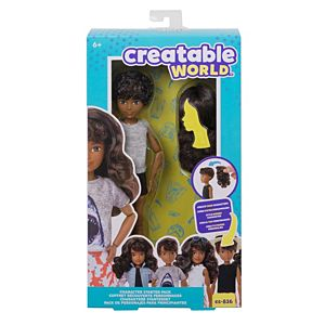 Creatable World™ Character Starter Pack, Wavy Brunette Doll with Brown Eyes, Includes Wig