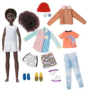 Creatable World™ Deluxe Character Kit, Customizable Doll with Black Curly Hair