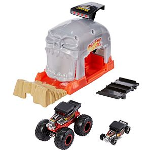 Hot Wheels® Monster Truck Launcher Play Sets with a Monster Truck and 1:64 Hot Wheels® Car