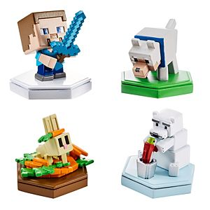 Minecraft Earth Boost Mini Figure 4-Pack, NFC-Chip Enabled, For Minecraft Augmented Reality Earth Game (Walmart Exclusive)