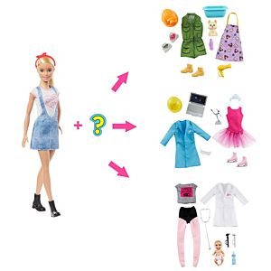 ​Barbie® Surprise Doll, Blonde with 2 Career Looks and Accessories