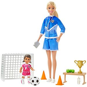 ​Barbie® Soccer Coach Playset with Blonde Soccer Coach Doll, Student Doll and Accessories