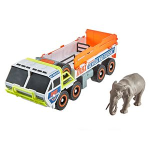 Matchbox Elephant Off Road Rescue Adventure Set with Truck and Elephant Figure
