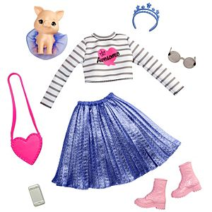 Barbie® Princess Adventure™ Fashion Pack with Outfit, Pet, Shoes and 4 Accessories