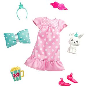 Barbie® Princess Adventure™ Fashion Pack with Slumber Party Outfit, Pet and 4 Accessories