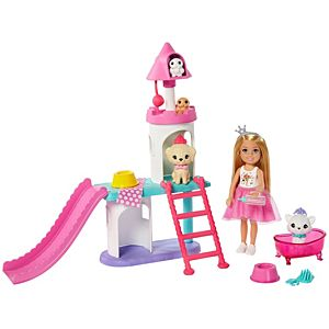 Barbie® Princess Adventure™ Chelsea™ Doll and Pet Castle Playset, for 3 to 7 Year Olds