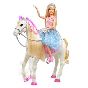 Barbie® Princess Adventure™ Doll and Prance & Shimmer™ Horse with Lights and Sounds
