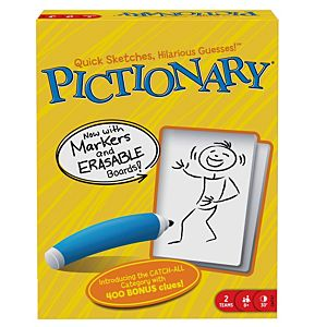 Pictionary® Game, Quick-Draw Guessing Game with Adult and Junior Clues