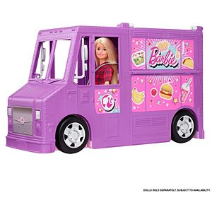 Barbie® Food Truck with Multiple Play Areas & 30+ Realistic Play Pieces