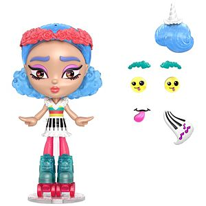 Lotta Looks™ Skate Pop™ Doll with 20+ Plug/Play Pieces, 100+ Looks
