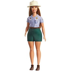 Barbie® Park Ranger Doll, Blonde, Curvy,Wearing Ranger Outfit Including Denim Shirt