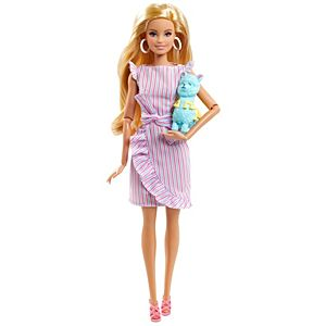 Barbie® Tiny Wishes™ Doll in Wrap Dress and Accessories, Baby Shower Gift
