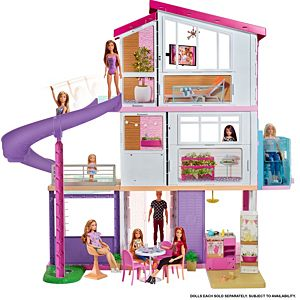 Barbie Dream House Dollhouse W Pool Slide Elevator Fhy73