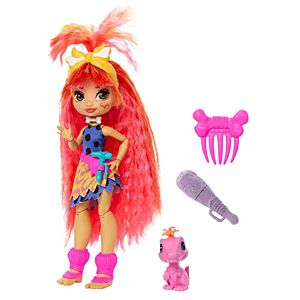 Cave Club™ Emberly™ Doll (10-inch) Prehistoric Fashion Doll with Dinosaur Pet