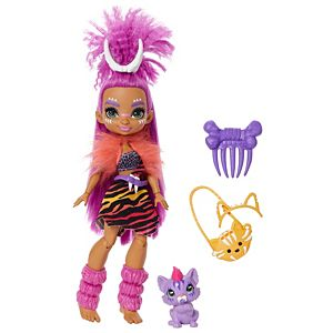 Cave Club™ Roaralai™ Doll (10-inch) Prehistoric Fashion Doll with Dinosaur Pet