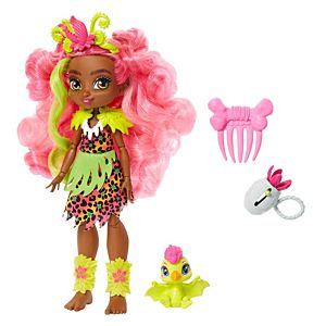 Cave Club™ Fernessa™ Doll (10-inch) Prehistoric Fashion Doll with Dinosaur Pet