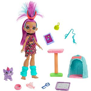 Cave Club™ Wild About Cats™ Playset with Roaralai™ Doll (10-inch) and Pet