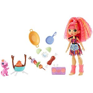 Cave Club™ Wild About BBQs™ Playset with Emberly™ Doll (10-inch), and Dinosaur Pet