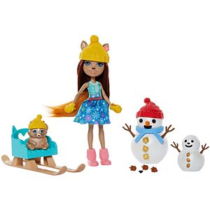 Enchantimals™ Snowman Face-Off™ With Sharlotte Squirrel™ & Walnut™ Dolls