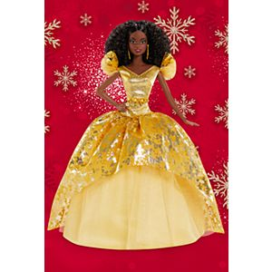 2020 Holiday Barbie® Doll, Brunette Curly Hair