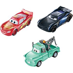 Disney Pixar Cars Color Changers Lightning McQueen, Mater & Jackson Storm 3-Pack