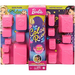 Barbie® Day-to-Night Color Reveal™ Doll with 25 Surprises & Dog Park-to-Movie Night Transformation