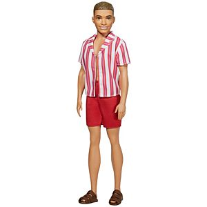 ​Ken™ 60th Anniversary Doll 1 in Throwback Beach Look with Swimsuit & Sandals