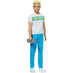 ​Ken™ 60th Anniversary Doll 2 in Throwback Workout Look with T-Shirt, Athleisure Pants, Sneakers & Hand Weight