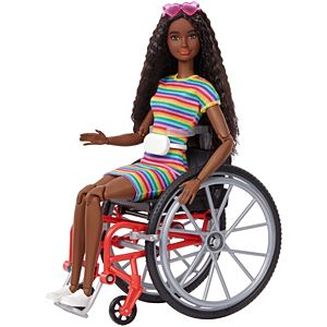 Barbie® Fashionistas™ Doll #166 with Wheelchair & Crimped Brunette Hair