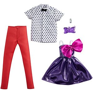 ​Barbie® Fashion Pack with 1 Outfit & 1 Accessory for Barbie® Doll & 1 Each for Ken® Doll