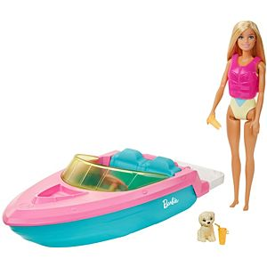 Barbie® Doll and Boat with Puppy and Accessories, Floats in Water