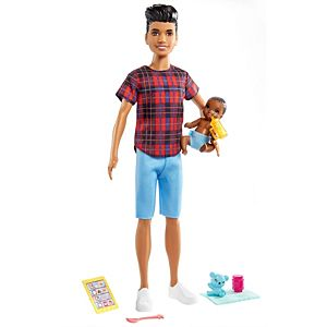 ​Barbie® Skipper™ Babysitters Inc.™ Doll & Accessories Set with 9-in Brunette Boy Doll, Baby Doll & 4 Storytelling Pieces