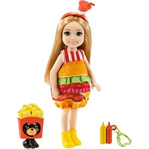 Barbie® Club Chelsea™ Dress-Up Doll (6-inch) in Burger Costume