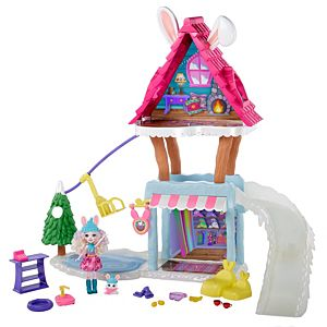 Enchantimals™ Hoppin' Ski Chalet With Bevy Bunny™ & Jump™ Dolls